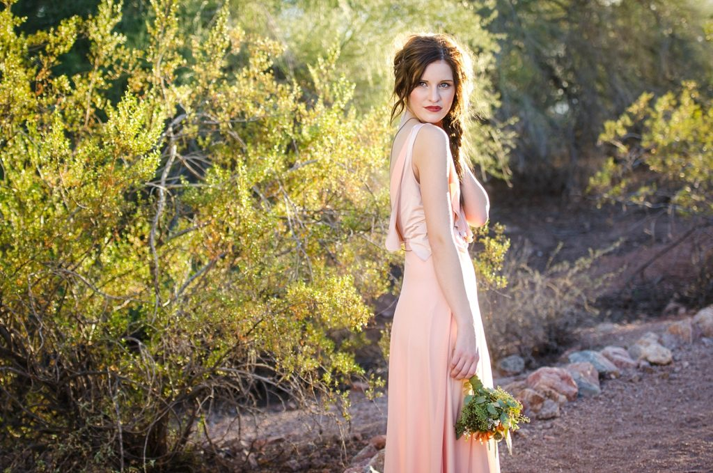Desert rose styled session at sunset