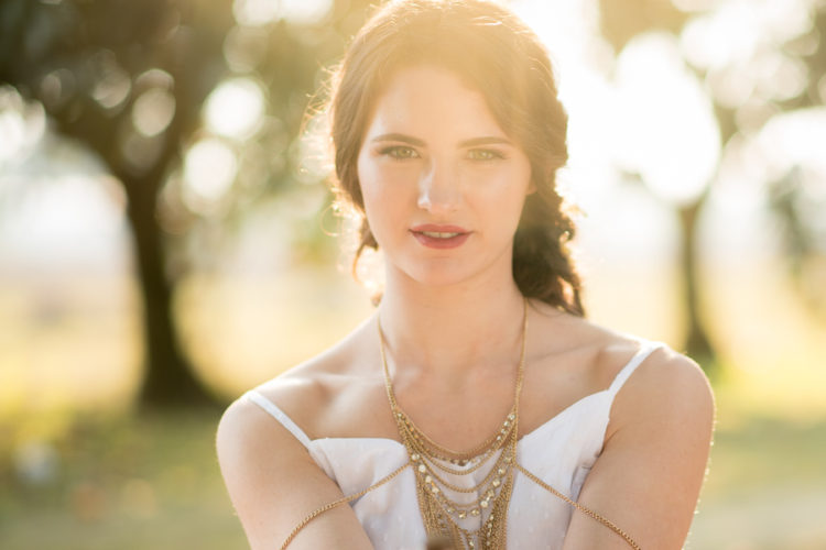 Ethereal garden session bathed in sunset light