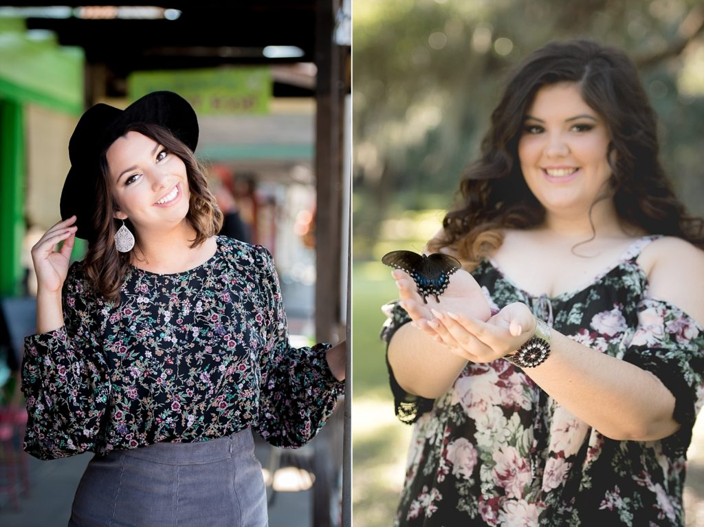 How to use floral outfit for senior pictures